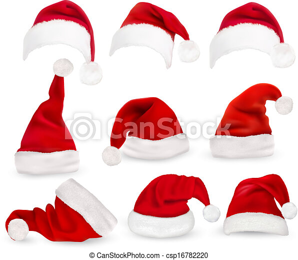 święty, hats., zbiór, vector., czerwony - csp16782220