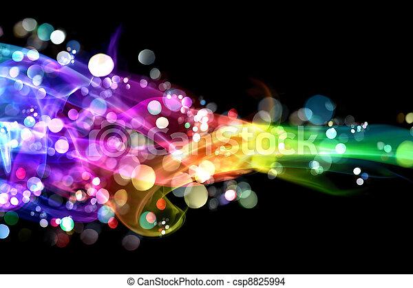 światła, barwny, dym - csp8825994