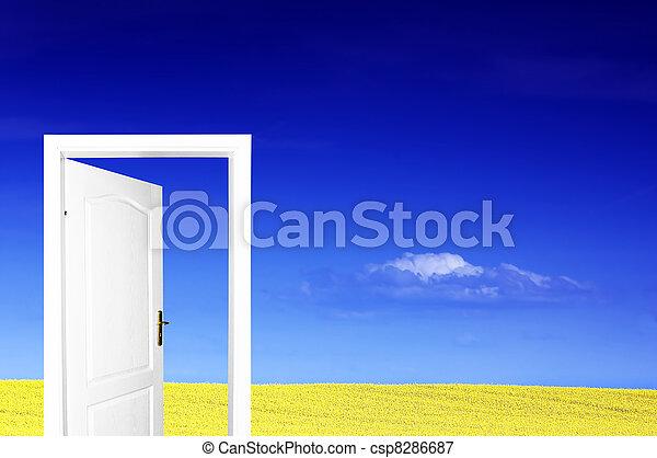 świat, drzwi, nowy - csp8286687