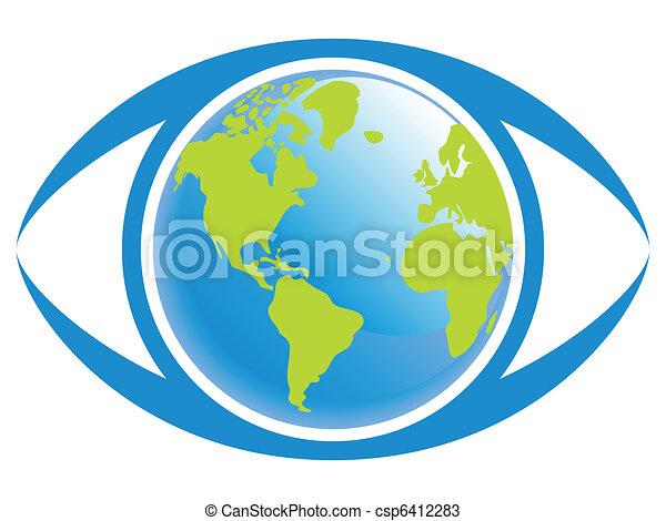 świat, prospekt., oko - csp6412283