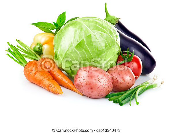 świeża zielenina, komplet, zielone listowie - csp13340473