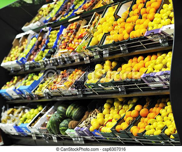 świeża zielenina, supe, targ, owoce - csp6307016