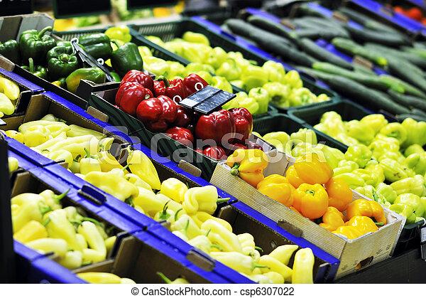 świeża zielenina, supe, targ, owoce - csp6307022