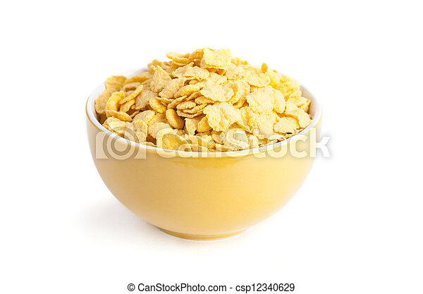 świeży, puchar, corn-fleksy, zboże - csp12340629