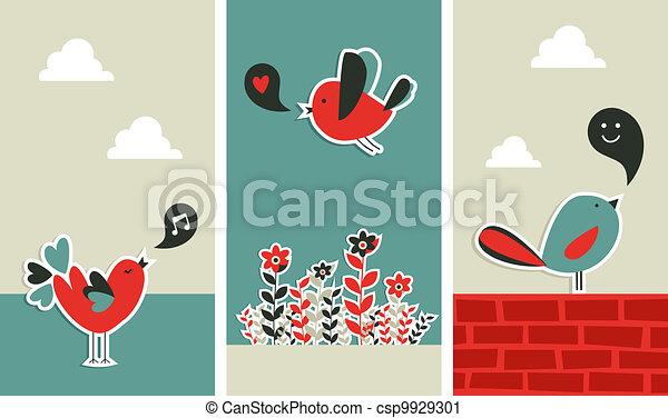 świeży, towarzyski, komunikacja, ptaszki, media - csp9929301