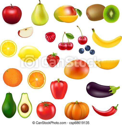 świeży, zbiór, owoc - csp68619135