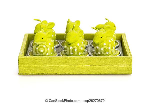 świece, formułować, króliki, wielkanoc - csp26270679