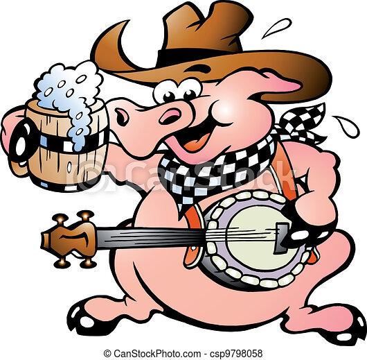 świnia, banjo, interpretacja - csp9798058