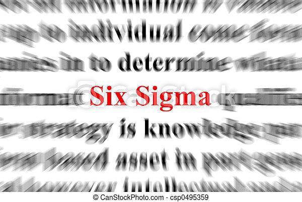 šest, sigma - csp0495359