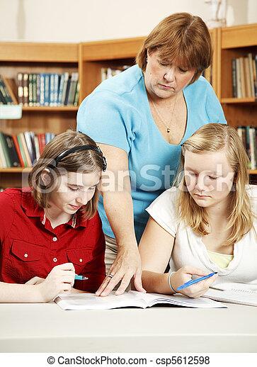 škola, studie, -, opravdový, knihovna - csp5612598