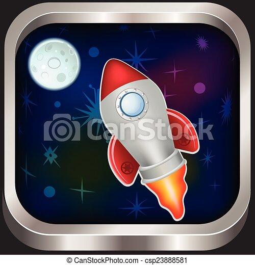 űrhajó, ikon - csp23888581