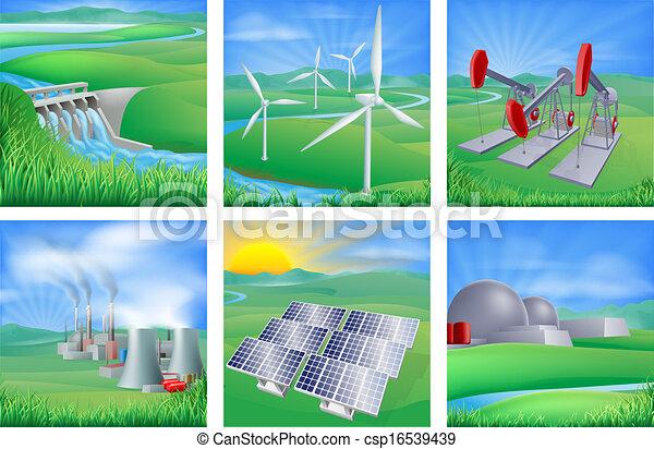 źródła, energia, moc - csp16539439