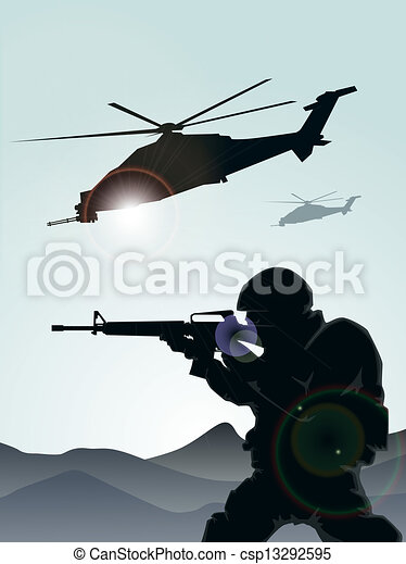żołnierz, śmigłowce - csp13292595