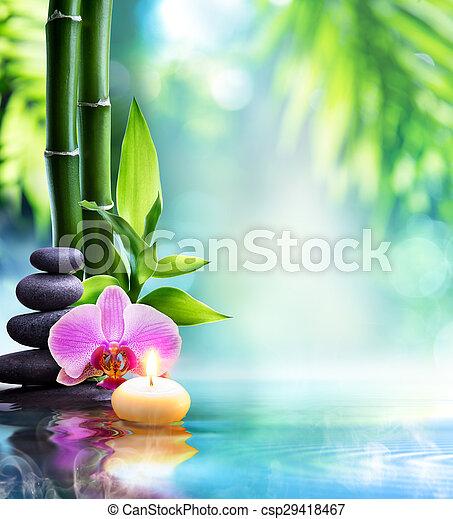 życie, -, kamień, zdrój, świeca, wciąż - csp29418467