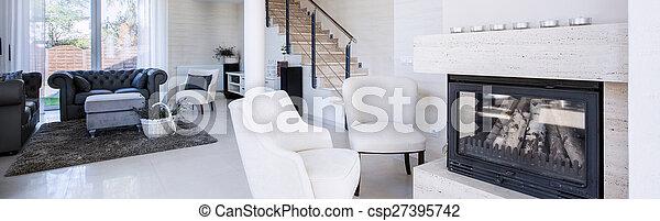 żyjący, luksus, pokój - csp27395742
