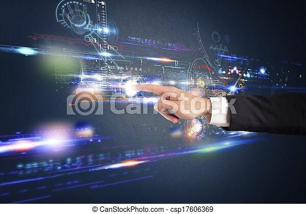 άγγιγμα , επεμβαίνω , οθόνη , ακαταλαβίστικος  - csp17606369