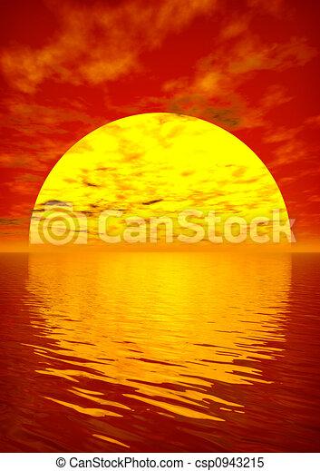 άλικος , ηλιοβασίλεμα  - csp0943215