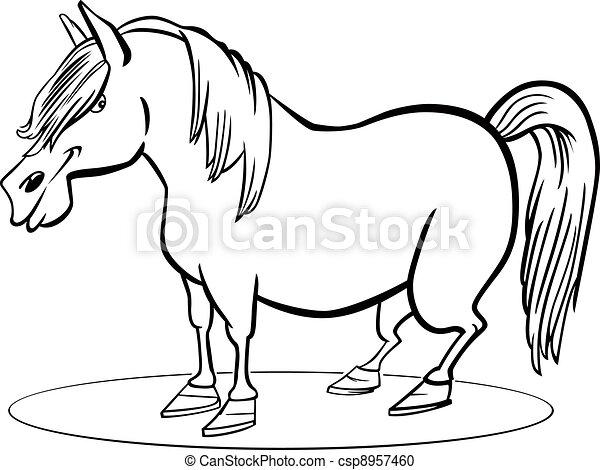 άλογο , μπογιά , ιππάριο , γελοιογραφία , σελίδα  - csp8957460