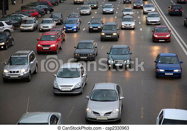άμαξα αυτοκίνητο , βράδυ , δρόμοs  - csp2330963
