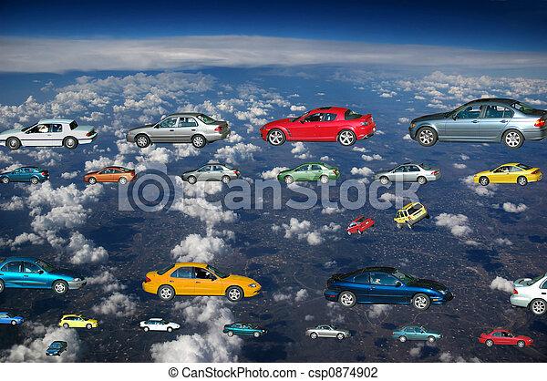 άμαξα αυτοκίνητο , ιπτάμενος  - csp0874902