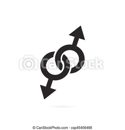 μαύρο αρσενικό σύμβολα σεξ