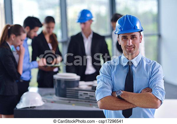 άνθρωποι , αξιωματικός μηχανικού , συνάντηση , δομή , επιχείρηση  - csp17296541