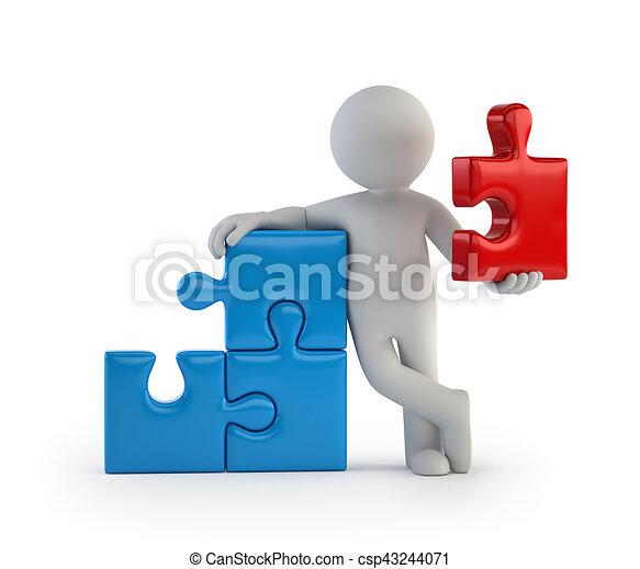 άνθρωποι , - , τμήμα , μικρό , κύρια , 3d  - csp43244071
