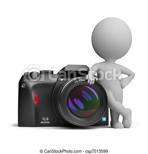 άνθρωποι , - , φωτογραφηκή μηχανή , ψηφιακός , μικρό , 3d  - csp7013599