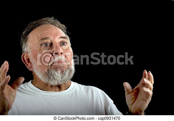 άντραs , γριά , αναρωτιέμαι  - csp0931470