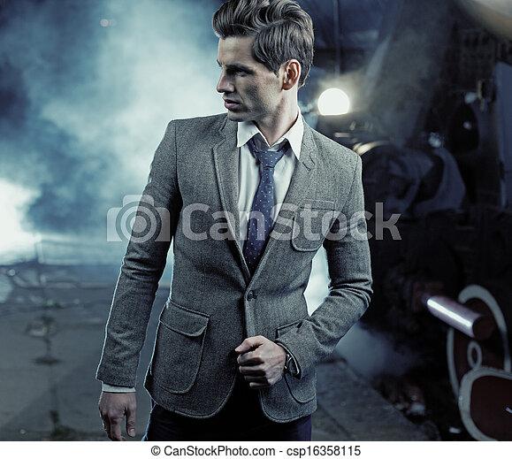 άντραs , εικόνα , really, γραφικός , ωραία  - csp16358115