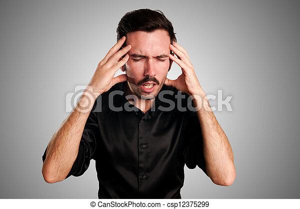 άντραs , πονοκέφαλοs  - csp12375299