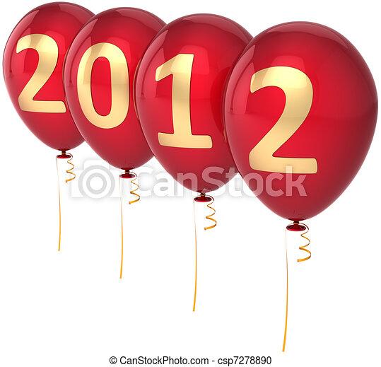 άπειρος έτος , μπαλόνι , παραμονή , 2012 - csp7278890