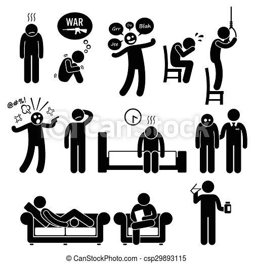 άρρωστα , ψυχολογία , ψυχιατρικός , διανοητικός  - csp29893115
