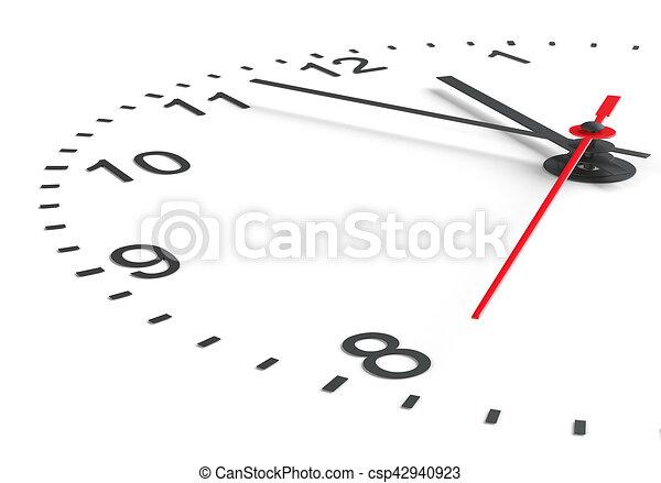άσπρο , ρολόι , φόντο , ζεσεεδ  - csp42940923