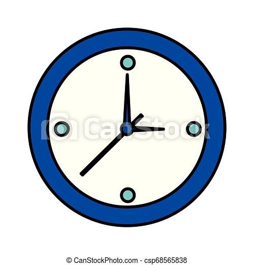 άσπρο , ώρα , στρογγυλός , φόντο , ρολόι  - csp68565838