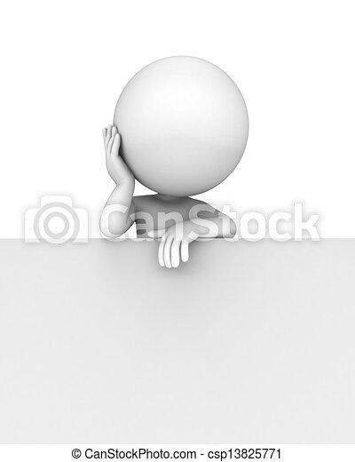 άσπρο , 3d , άνθρωποι  - csp13825771