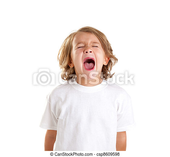 έκφραση , άσπρο , σκούξιμο , παιδιά , παιδί  - csp8609598