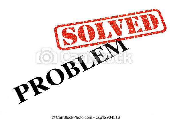 έλυσα , πρόβλημα  - csp12904516