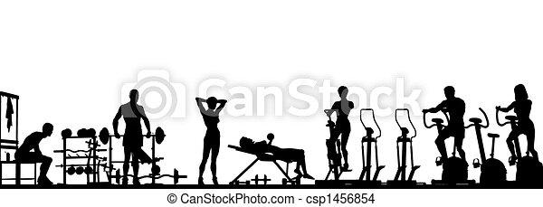 έμπροσθεν μέρος , γυμναστήριο  - csp1456854