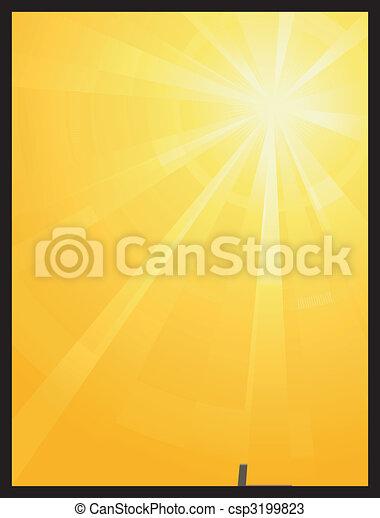 ήλιοs , asymmetric , ξεσπώ , ελαφρείς , κίτρινο , πορτοκάλι  - csp3199823