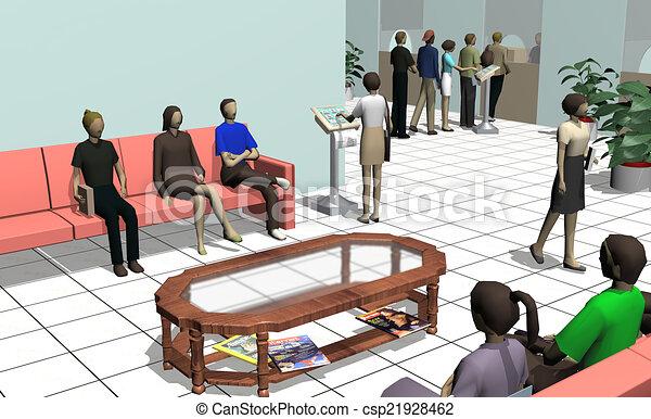 αίθουσα αναμονής  - csp21928462