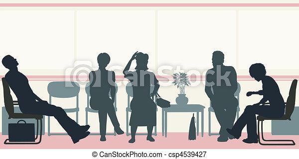 αίθουσα αναμονής  - csp4539427