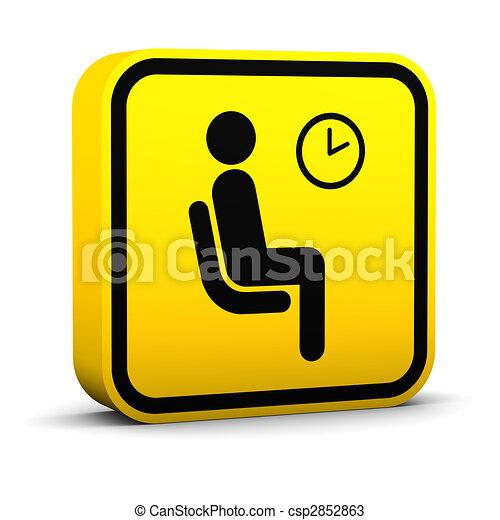 αίθουσα αναμονής , σήμα  - csp2852863