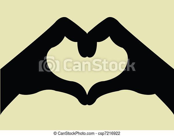 αγάπη αναπτύσσομαι , χειρονομία , χέρι  - csp7216922