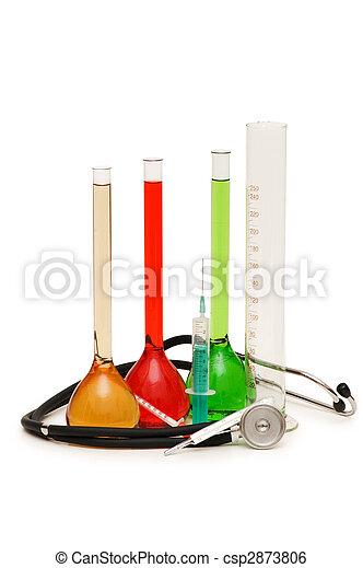 αγωγός , ιατρικός , στηθοσκόπιο , θέμα , syringes  - csp2873806