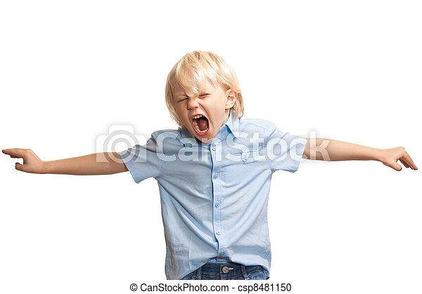 αγόρι , μεγαλόφωνος , νέος , σκούξιμο  - csp8481150