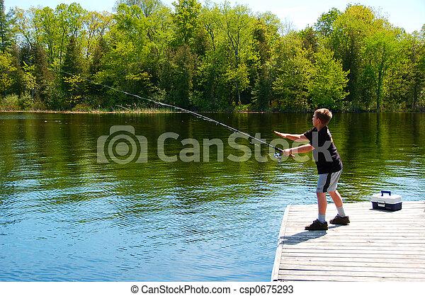 αγόρι , νέος , ψάρεμα  - csp0675293