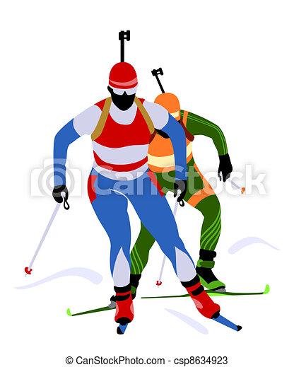αγώνας , biathlon  - csp8634923