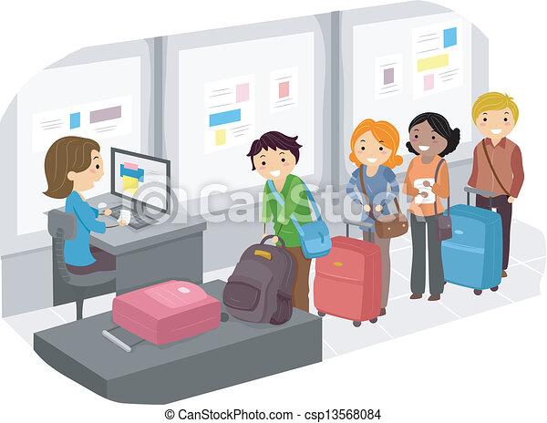 αεροδρόμιο , 2 , ελέγχω , αποσκευέs  - csp13568084