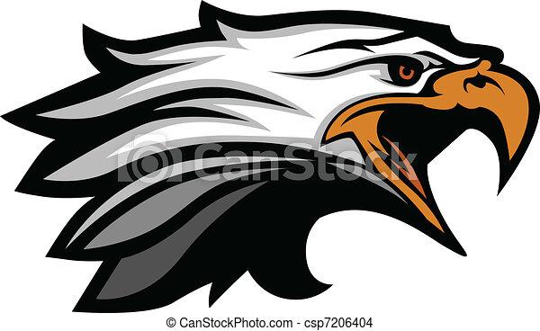 αετός , κεφάλι , μικροβιοφορέας , illu, γουρλίτικο ζώο  - csp7206404